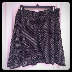 Black & White Polka Dot Skirt